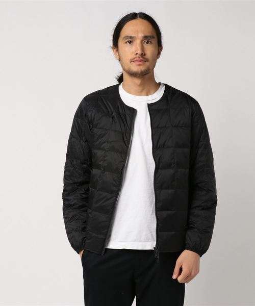 TAION タイオン NECK】MENS DOWN CREW NECK W ZIP DOWN JKT JKT