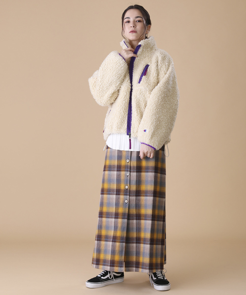 "▽Champion × FREAK""S STORE/챔피언 보아 플리스(fleece) 블루존(보아 코트)"