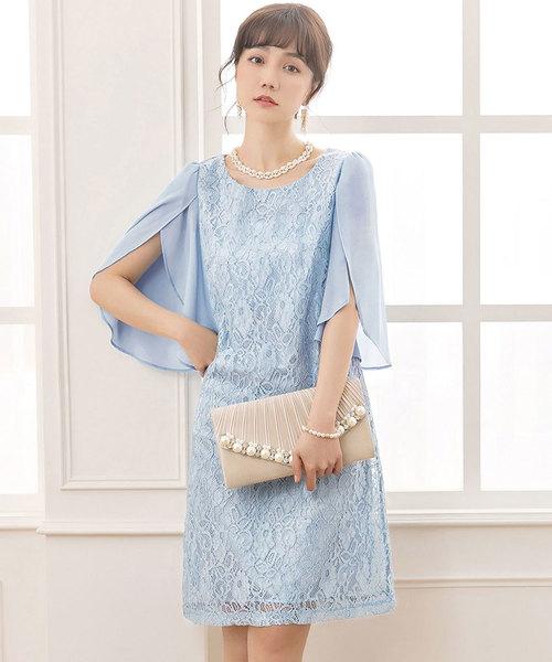 4284576e7d59f DRESS STAR(ドレス スター)の「フリル(シフォン)スリーブレースワンピース(ドレス)」 - WEAR