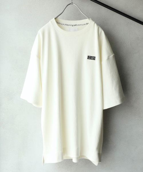 【NUMBER (N)INE】 별주품 헤비 웨이트 프리미어 프라이즈 N(N) 박스 로고 자수 크루 넥 T셔츠