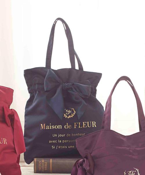 [Maison de FLEUR 메종드플뢰르] 리본 토트백