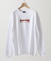 【別注】 <THRASHER> LONG SLEEVE TEE/Tシャツ