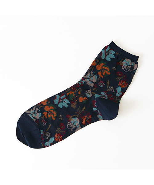 靴下屋(クツシタヤ)の「【靴下屋】ガーゼ調ノスタルジック花柄
