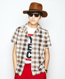 ROCK IT刺繍 半袖オープンカラーシャツ