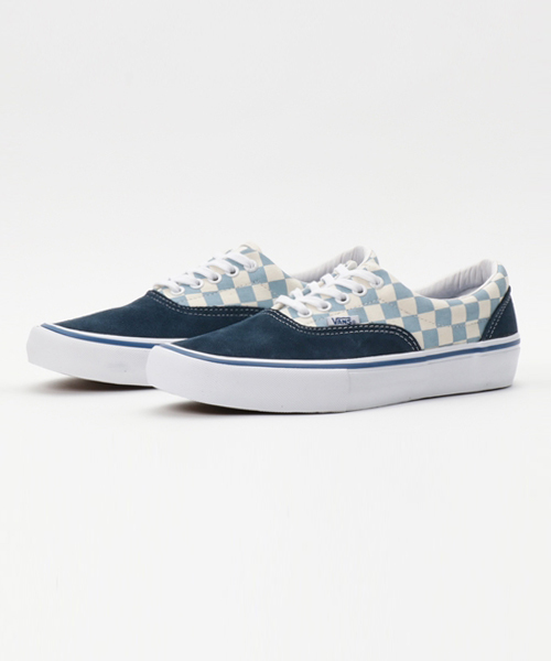 32f87ea3a7 VANS(バンズ)の「VANS ヴァンズ ERA PRO VN0A347LN1S (CHECKERBOARD) DRESS BLUES  MARSHMALLOW(スニーカー)」 - WEAR