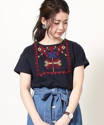 【Market】エンブロイダリーTシャツ(刺繍Tシャツ)