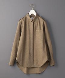 <6(ROKU)>COLLAR BAR SHIRT/シャツ