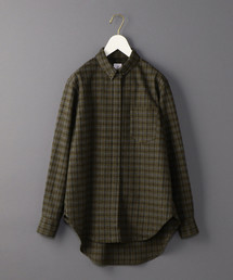 <6(ROKU)>COLLAR BAR CHECK SHIRT/シャツ