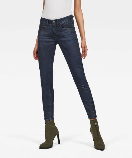 G-STAR RAW Lynn-b Mid Waist Skinny Ripped Ankle Jeans Donna