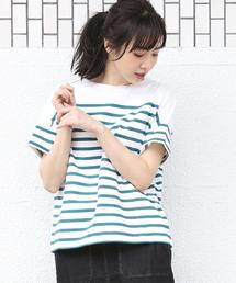 ナバルボーダーTEE(Tシャツ)�U