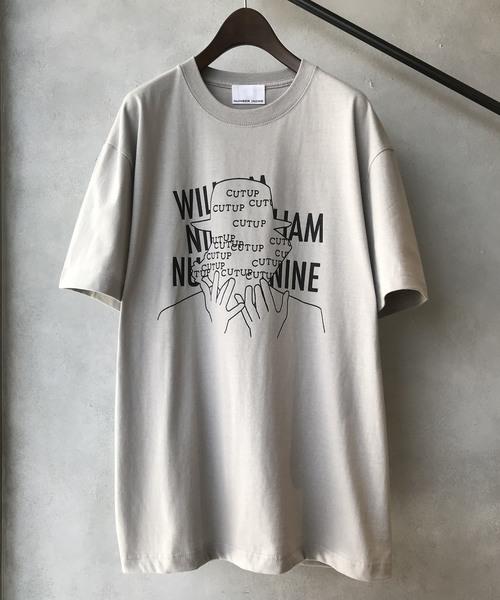 【NUMBER (N)INE】 별주품 실루엣 모티브 그래픽 로고 백 프린트 크루 넥 T셔츠