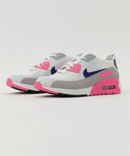 online store f24f8 2c897 NIKE(ナイキ)の「NIKE W AIR MAX 90 ULTRA 2.0 FLYKNIT (WHITE CONCORD-LASER PINK- BLACK-MATTE SILVER-PURE PLATINUM) (17SP)  SP (スニーカー)」 - WEAR