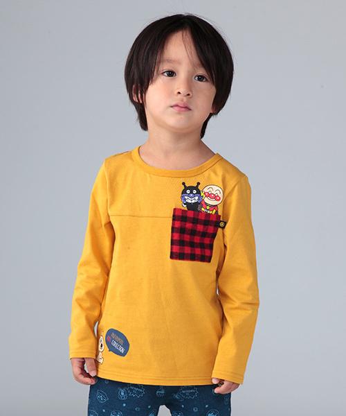 8308218ebf129e ANPANMAN KIDS COLLECTION(アンパンマンキッズコレクション)の「【アンパンマン】チェック切替T(Tシャツ・カットソー)」 -  WEAR