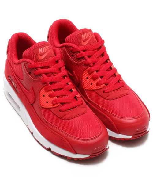 081a5b78e9a56 NIKE(ナイキ)の「NIKE AIR MAX 90 PREMIUM (GYM RED/GYM RED-WHITE-HABANERO RED)  【SP】(スニーカー)」 - WEAR