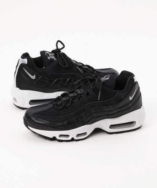 """Men's Nike Air Max 95 PRM Black & Chrome """"Rebel Skulls"""" 538416 008"""