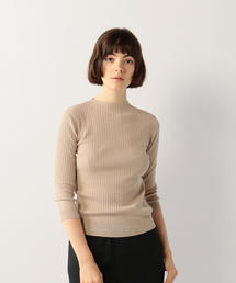 <Steven Alan>RIB BOTTLE NECK BACK BUTTON KNIT/ニット