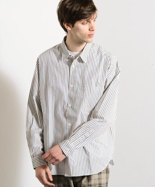【WEB限定】 by ストライプ ビッグシャツ