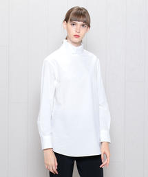 <H>BROAD HIGH NECK BLOUSE/ブラウス