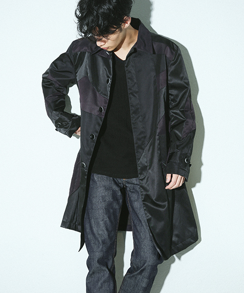78e02ee4bd9 ANREALAGE(アンリアレイジ)の「panel patchwork nylon coat(その他アウター)」 - WEAR