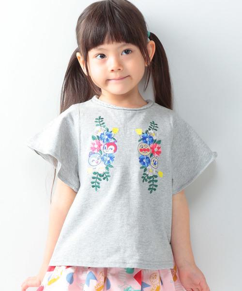 74cd1e470c4792 ANPANMAN KIDS COLLECTION(アンパンマンキッズコレクション)の「【アンパンマン】お花刺繍半袖チュニック(Tシャツ・カットソー)」  - WEAR