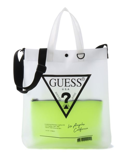 fe774c39d215 Guess(ゲス)の「TRIANGLE LOGO CLEAR TOTE BAG(トートバッグ)」 - WEAR