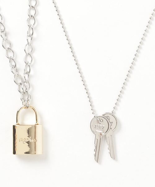 WEGO(ウィゴー)の「WEGO/Padlock SET Necklace(ネックレス