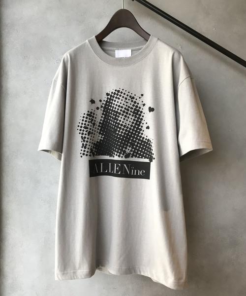 【NUMBER (N)INE】 별주품 도트 실루엣 그래픽 프린트 크루 넥 T셔츠