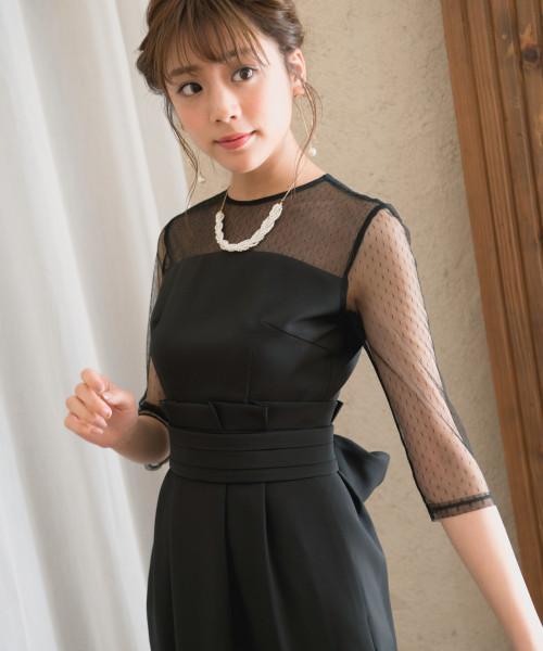 7089409b304a0 Andemiu(アンデミュウ)の「 WEB限定 ドットチュールコクーンワンピース816580(ドレス)」 - WEAR