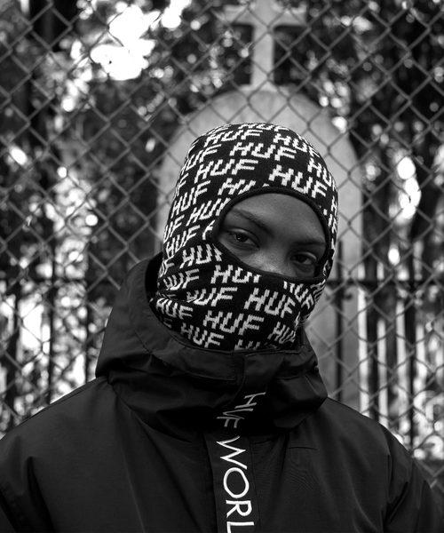 HUF Transit Black Ski Mask