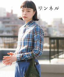 【『リンネル』6月号掲載】強撚コットンレギュラーシャツ