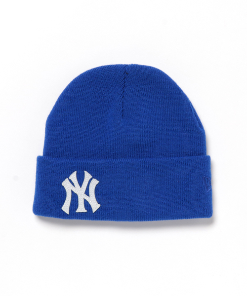 best service 8fca7 afde6 ONSPOTZ(オンスポッツ)の「NEWERA KIDS KNIT CAP MLB NEW YORK YANKEES BASIC CUFF TEAM  LOGO ROYAL(ニットキャップ・ビーニー)」 - WEAR
