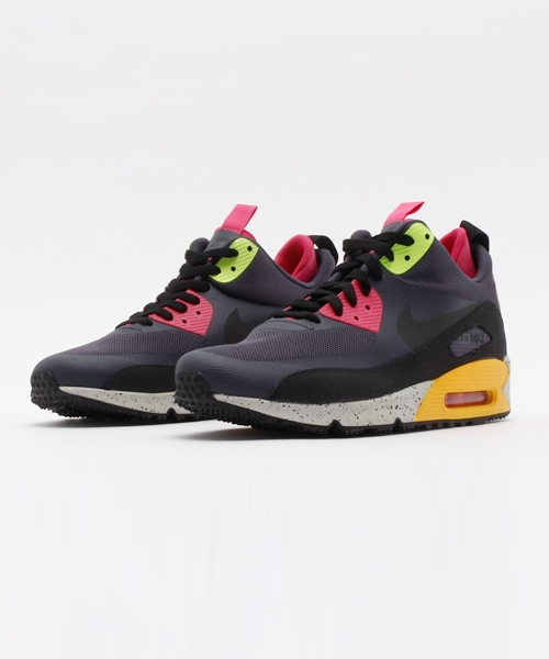 new arrival 1f109 3f38d NIKE(ナイキ)の「NIKE AIR MAX 90 SNEAKERBOOT NS(616314-008)GRIDIRON BLACK-PINK  FORCE-VOLT ナイキ エアマックス 90 スニーカーブーツ NS  (スニーカー)」 - ...