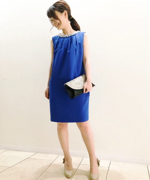 c3b5e05ea05da Jines(ジネス)の「二重織 衿ビジュー ドレス(ドレス)」 - WEAR