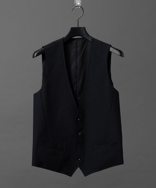 ファッションの 【セール】シアサッカーストレッチジレ(ベスト) エラ 5351 HOMMES POUR オム LES HOMMES(ゴーサンゴーイチプールオム)のファッション通販, アートシューズ【モニシャン】:c55d6d6b --- pyme.pe
