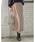 Re:EDIT(リエディ)の「ベイクドカラーピーチスキン台形スカート(スカート)」|ベージュ