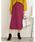 Re:EDIT(リエディ)の「ベイクドカラーピーチスキン台形スカート(スカート)」|プラム