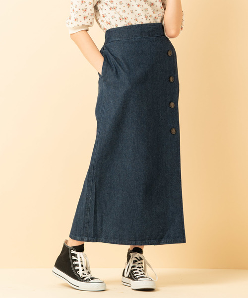 ラップタックボタンスカート