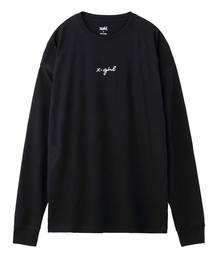 X-girl(エックスガール)のCURSIVE LOGO L/S TEE(Tシャツ/カットソー)