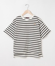LOVETOXIC(ラブトキシック)のボーダーベア刺しゅう半袖Tシャツ(Tシャツ/カットソー)