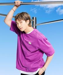 【 FILA / フィラ  】 2021SS コレクション  BTS 着用モデル Tシャツ  防弾少年団 FS0136 DWBパープル