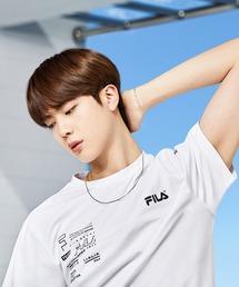 【 FILA / フィラ  】 2021SS コレクション  BTS 着用モデル Tシャツ  防弾少年団 FS0136 DWBホワイト