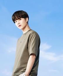 【 FILA / フィラ  】 2021SS コレクション  BTS 着用モデル Tシャツ  防弾少年団 FS0136 DWBカーキ