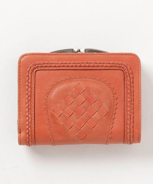 aa018ecb3489 Shion(シオン)のShion シオン メッシュコンビネーションガマ口二つ折り財布(財布