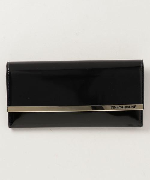 PINKY&DIANNE(ピンキーアンドダイアン)の「PINKY&DIANNE スペッキオ(8D)  薄型長財布(財布)」|ネイビー