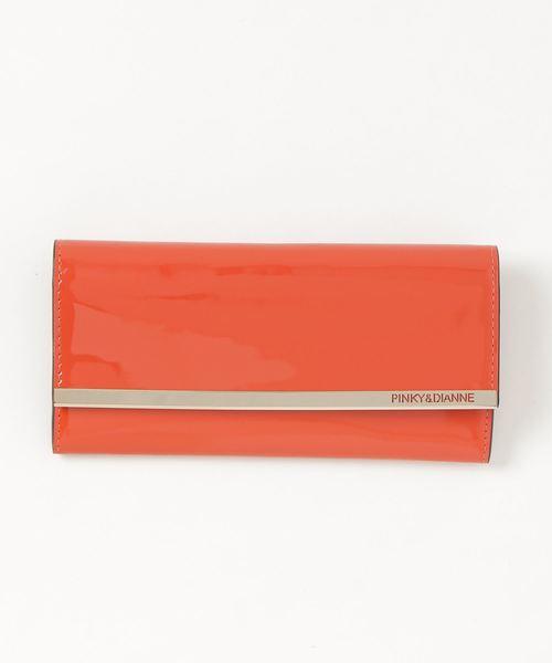 PINKY&DIANNE(ピンキーアンドダイアン)の「PINKY&DIANNE スペッキオ(8D)  薄型長財布(財布)」|オレンジ