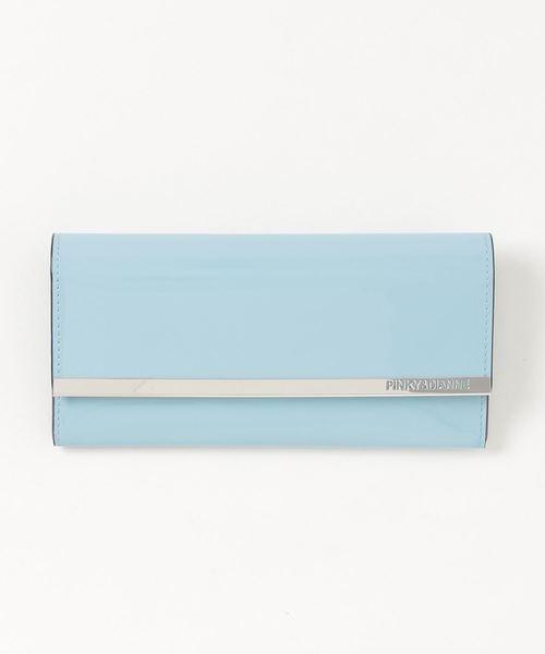 PINKY&DIANNE(ピンキーアンドダイアン)の「PINKY&DIANNE スペッキオ(8D)  薄型長財布(財布)」|ブルー