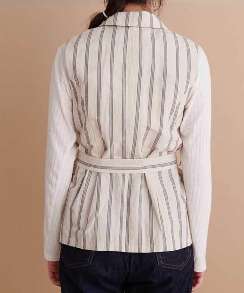 cotton/linen tailor gillet