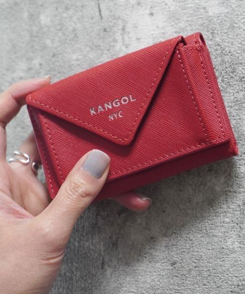 KANGOL(カンゴール)の「【 KANGOL / カンゴール 】 レザー ミニ ウォレット(財布)」|レッド