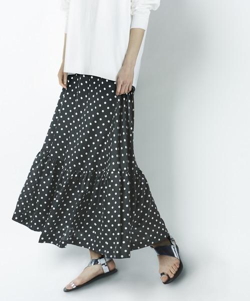 人気商品 【2020SS】ドットプリントティアードスカート(スカート)|N.O.R.C(ノーク)のファッション通販, 着物道楽みなとや:4b763a5b --- wiratourjogja.com