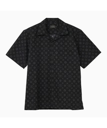 MONOGRAM柄 オープンカラーシャツブラック
